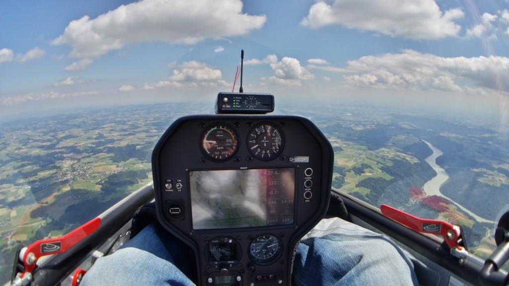 Bild aus dem Cockpit der #Silent2Electro